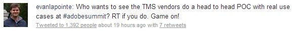 #AdobeSummit TMS Challenge